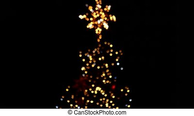 Slightly blurred christmas tree.