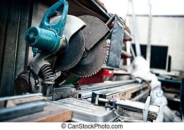 slijpsel hulpmiddel, industriebedrijven, metaal, fabriek