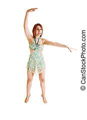 Slim ballet girl.