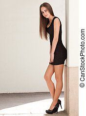 Slim beauty. - Portrait of a gorgeous fashionable slim ...
