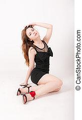 Slim sensual girl