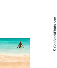 Slim woman in a bathing suit Vector illustration - Slim...