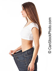 Slim young woman