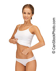 slimming concept - picture of woman in cotton underwear...