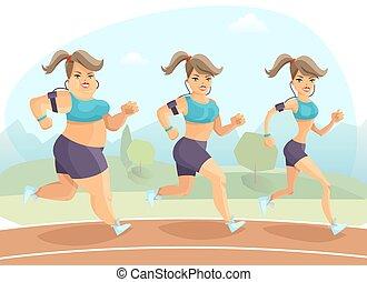 Slimming Woman Illustration