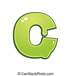 Slimy font type letter C