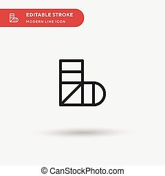 Sling Simple vector icon. Illustration symbol design ...