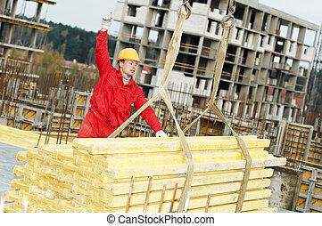 slinging builer with framework - slinger builder in uniform...