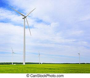 slingra turbiner, alstrande, electricity.
