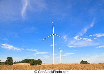 slingra turbiner, energi upphov