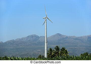 slingra turbiner, lantgård, -, alternativ energi, källa