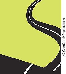 slingrig road, minimalist, affisch