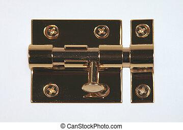 Slip Lock with Deadbolt - Brass Sliplock with the deadbolt...