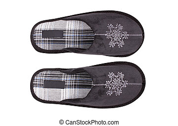 Slipper. - Home sleeper warm blue with a snowflake pattern ...