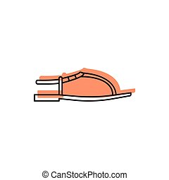 Slipper icon, doodle style