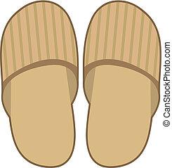 Slippers. Vector illustration