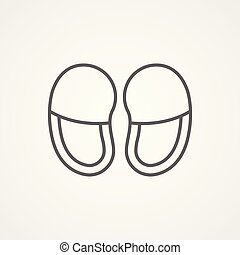 slippers vector icon sign symbol