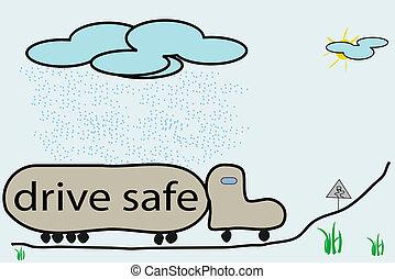 slippery road cartoon