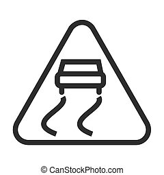 Slippery Road Sign Icon Royalty Free Cliparts, Vectors, And Stock  Illustration. Image 45612631.