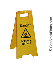 slippery surface sign - Dager - slippery surface, yellow...