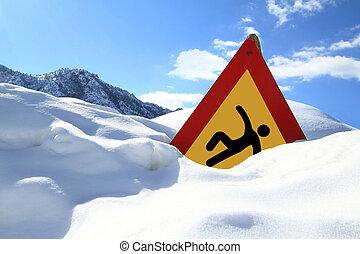 ?slippery, surface?, straße zeichen