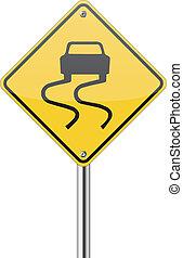 slippery vej underskriv