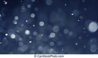 slo-mo, gouttelettes, contre, eau, arrière-plan noir