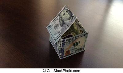 Slo-Mo Pan Money House Blows Away - Slow Motion Panning of...