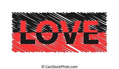 slogan, affiche, couleur, carte postale, t-shirt, etc, habillement, graphiques, amour, impression
