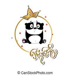 slogan print with cute panda
