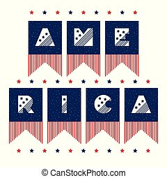 Slogan vector print for celebration design 4 th july in vintage style with text AMERICA Home my sweet home