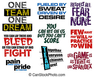 slogans, cobrança, equipe