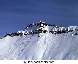 Slope with traces of avalanches