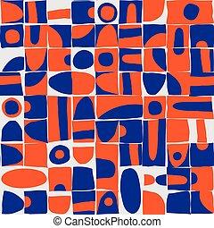 Sloppy geometric shapes seamless pattern - Seamless pattern ...