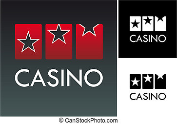Casino slotr game on black background. Vector available