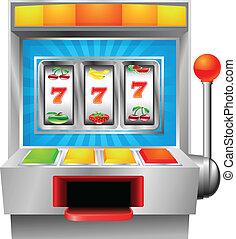 Slot fruit machine - A slot or fruit machine illustration on...