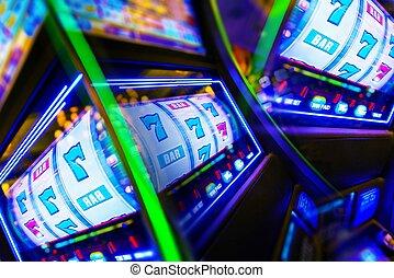 Slot Machine Casino Mania. Vegas Play and Fun Conceptual...