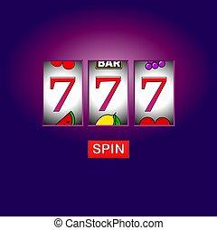 slot machine casino vector spin