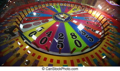 slot machine close-up with rotating bulbs - colorful slot...