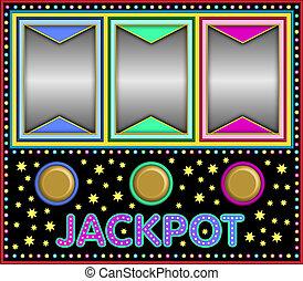 Slot machine - colorful slot machine with empty fields ready...