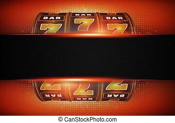 Slot Machine Copy Space