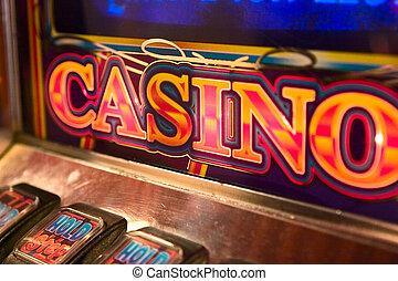 Slot Machine Detail - detail image of slot machine...