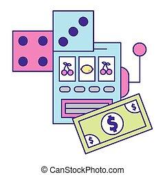 slot machine dices casino game