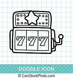 slot machine doodle