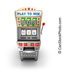 Slot machine, gamble machine.