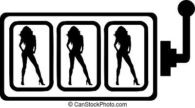 Slot machine - gambling hot women