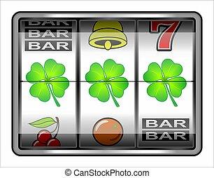 Slot machine, gambling icon