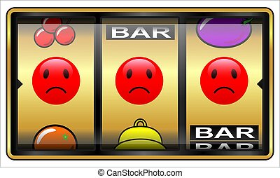 Slot machine, gambling, loser
