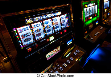 Slot Machine in Las Vegas - Colorful Slot Machine in a Las...