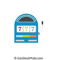 Slot machine jackpot flat icon